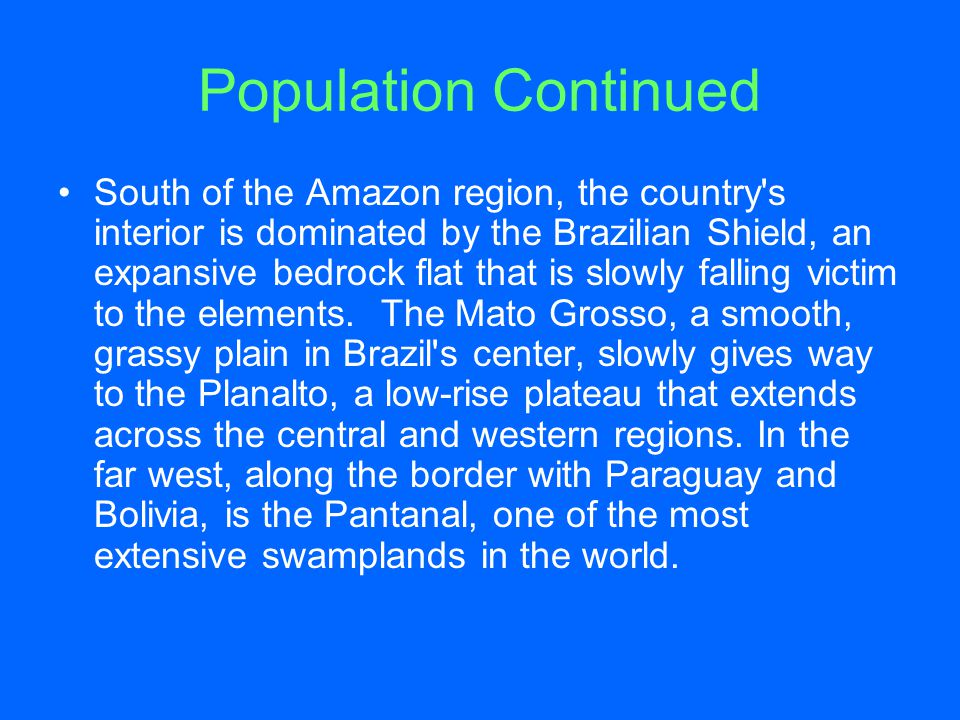 Population Continued