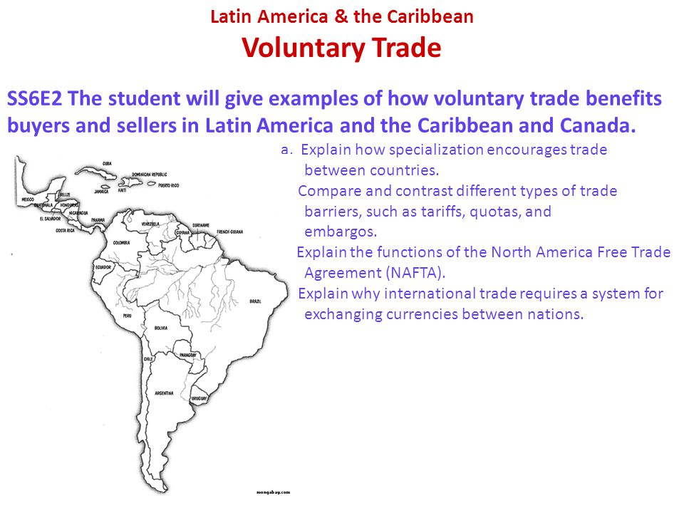 Latin America & the Caribbean Voluntary Trade