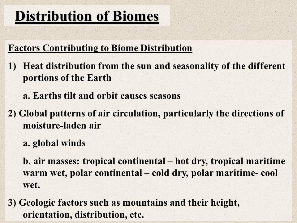 Distribution of Biomes