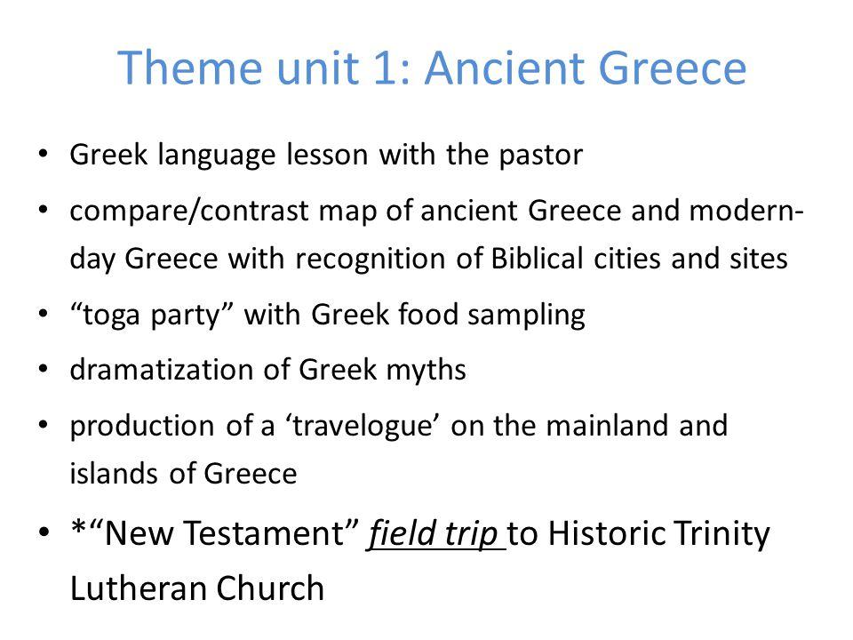 Theme unit 1: Ancient Greece