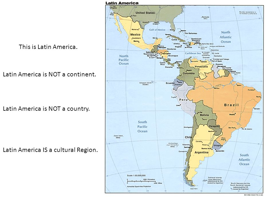 This is Latin America. Latin America is NOT a continent.