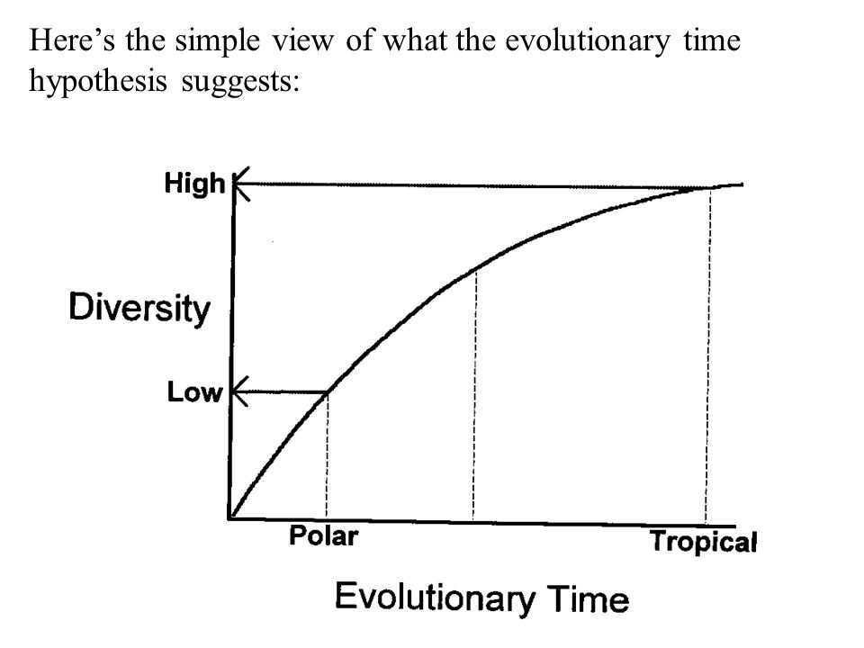 Here's the simple view of what the evolutionary time hypothesis suggests: