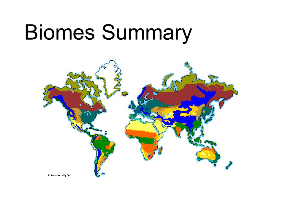 Biomes Summary