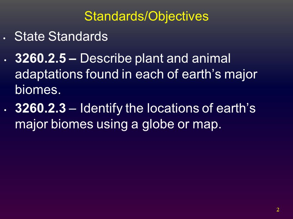 Standards/Objectives