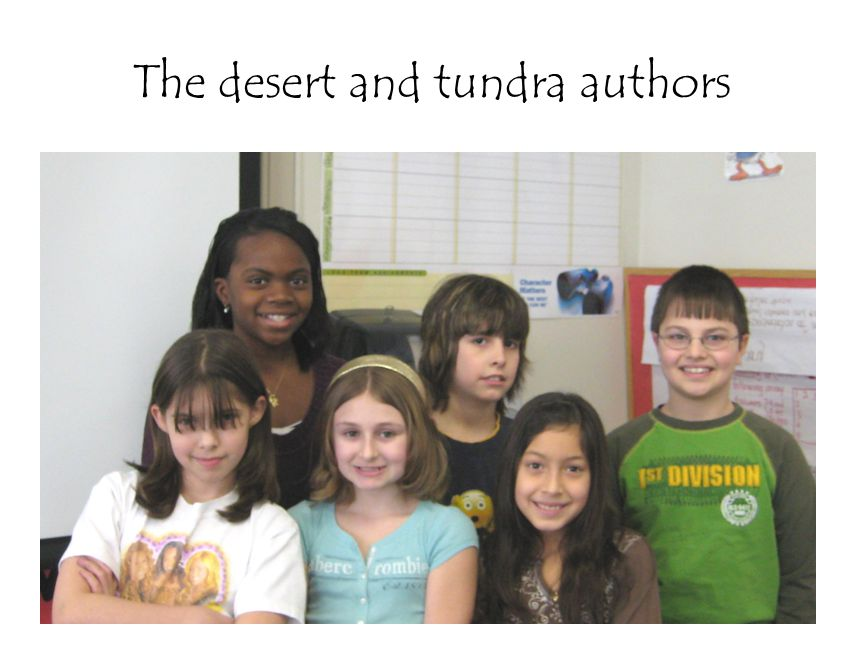 The desert and tundra authors