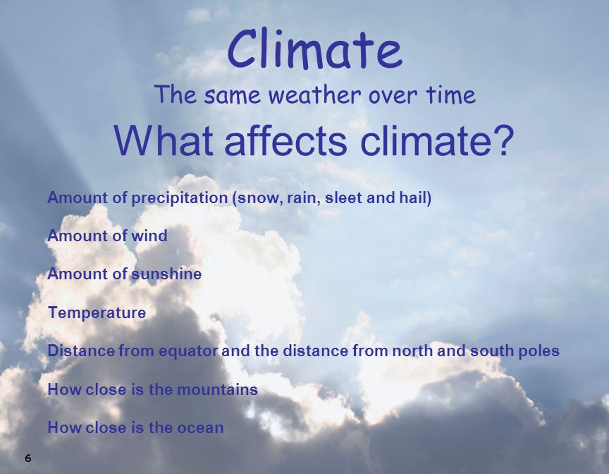 Climate The same weather over time
