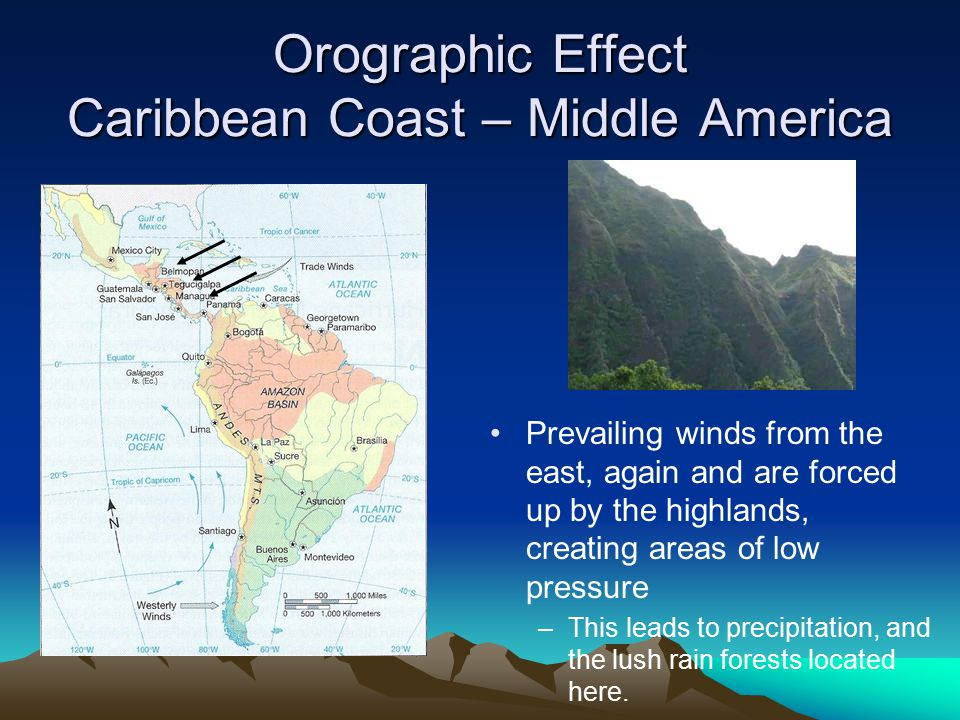 Orographic Effect Caribbean Coast – Middle America