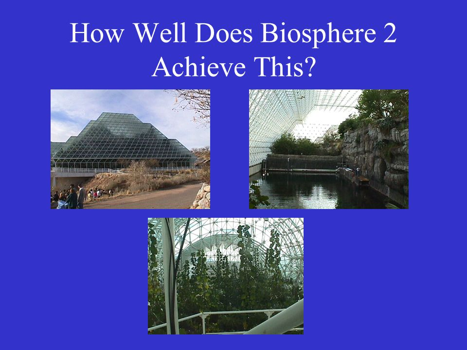 How Well Does Biosphere 2 Achieve This