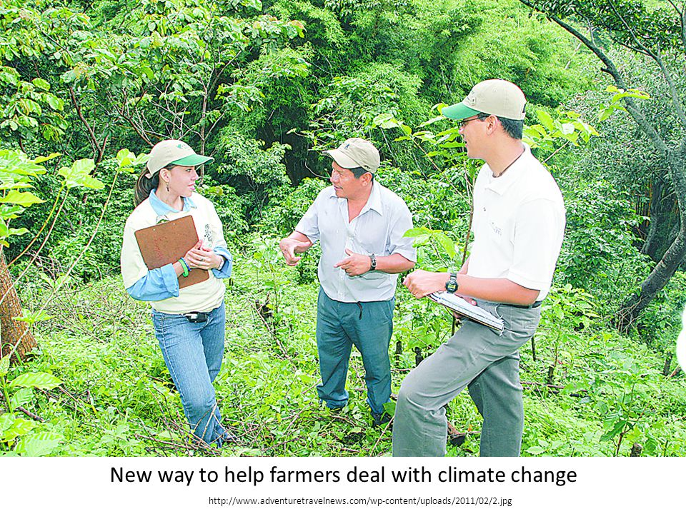 New way to help farmers deal with climate change