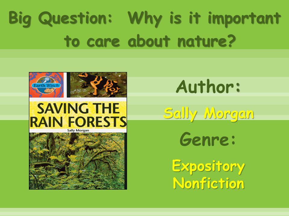 Author: Sally Morgan Genre: Expository Nonfiction