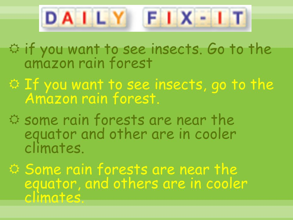 if you want to see insects. Go to the amazon rain forest