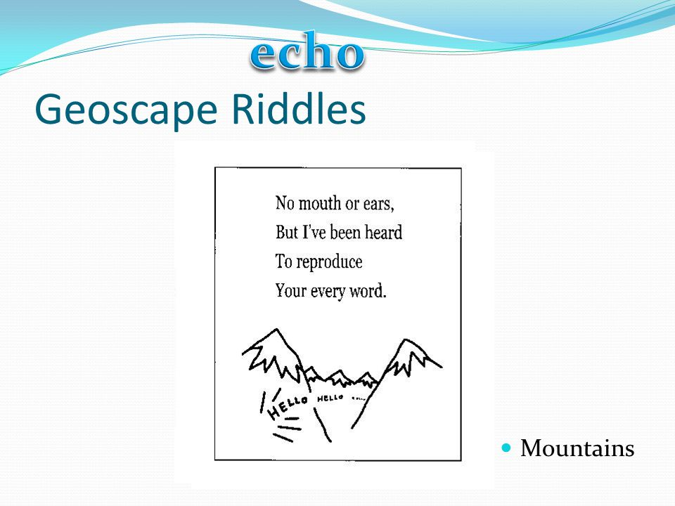 echo Geoscape Riddles Mountains