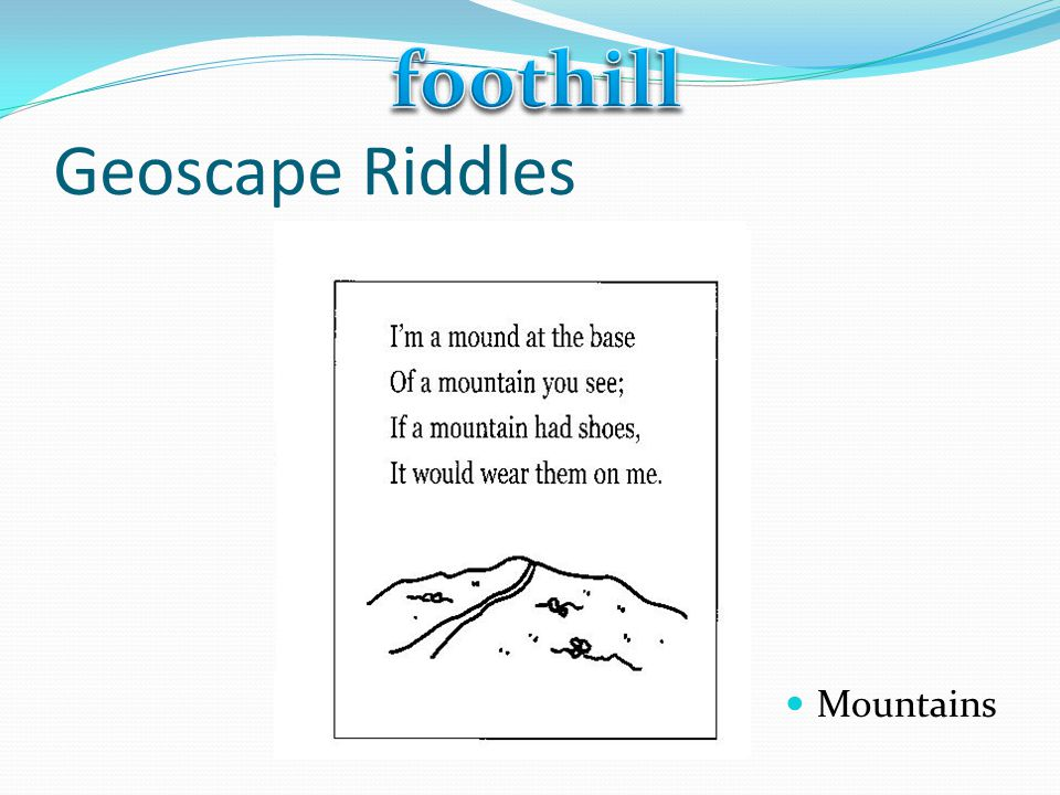foothill Geoscape Riddles Mountains