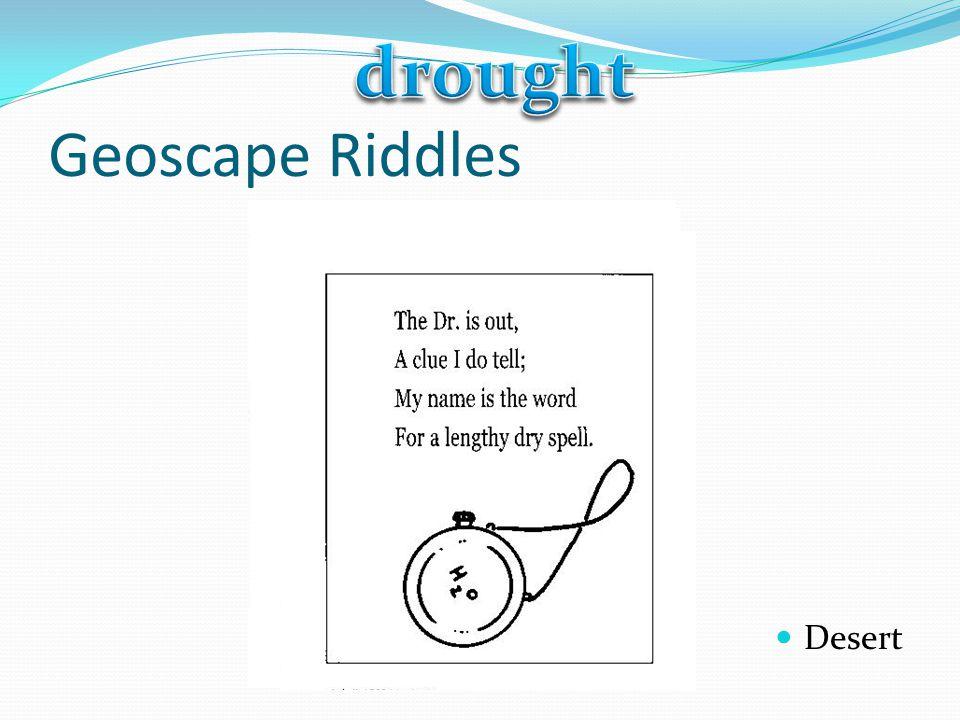 drought Geoscape Riddles Desert