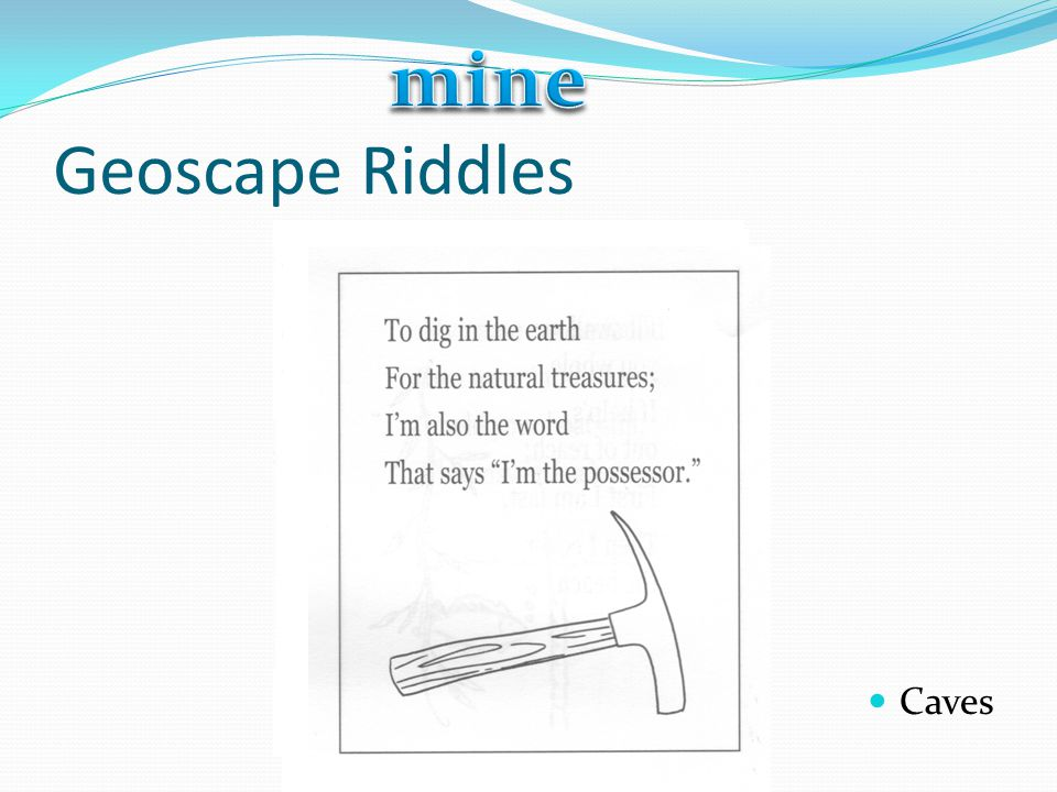 mine Geoscape Riddles Caves