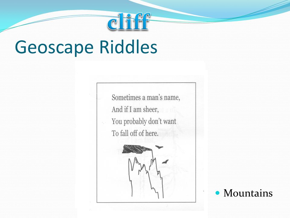 cliff Geoscape Riddles Mountains