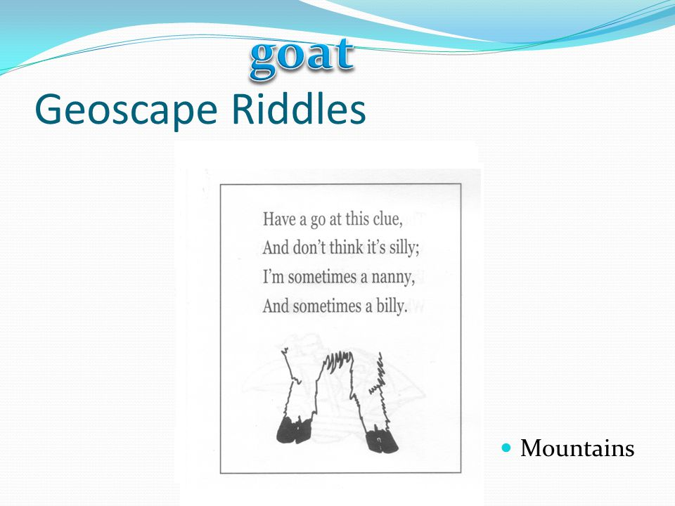 goat Geoscape Riddles Mountains