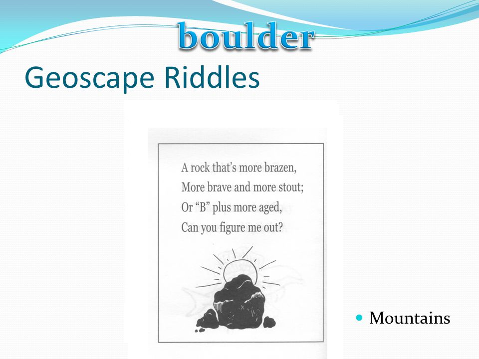 boulder Geoscape Riddles Mountains