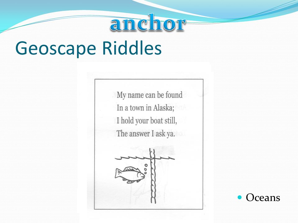 anchor Geoscape Riddles Oceans