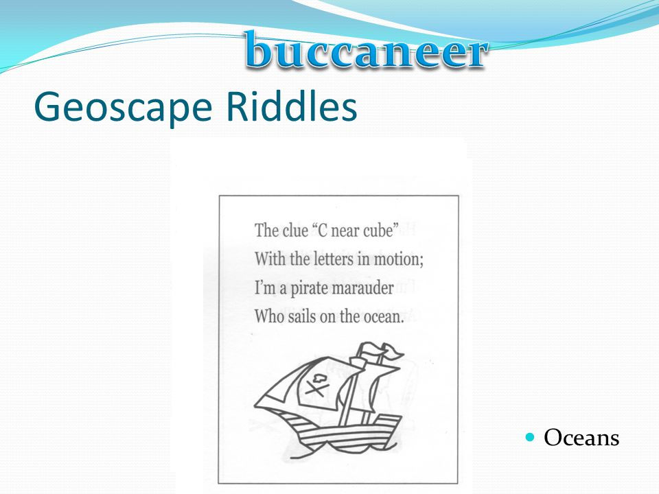 buccaneer Geoscape Riddles Oceans