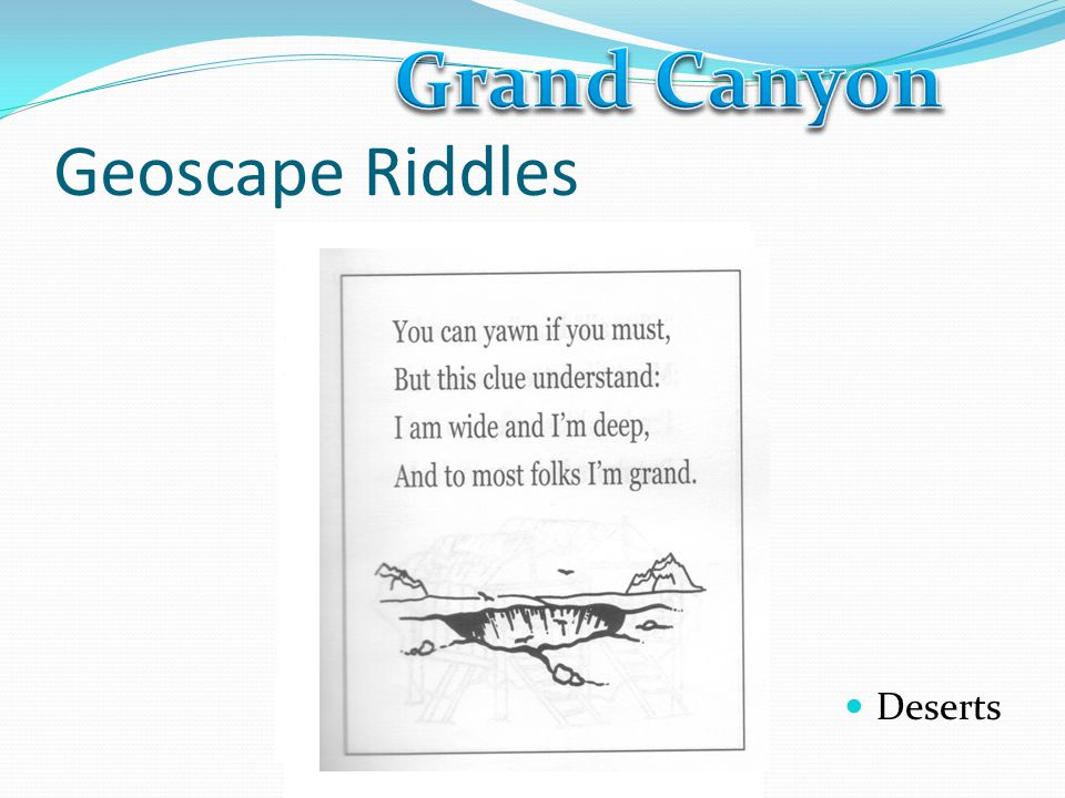 Grand Canyon Geoscape Riddles Deserts