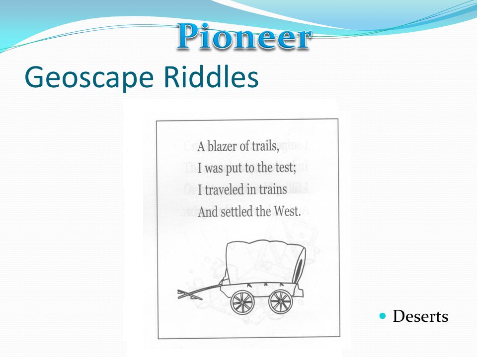 Pioneer Geoscape Riddles Deserts