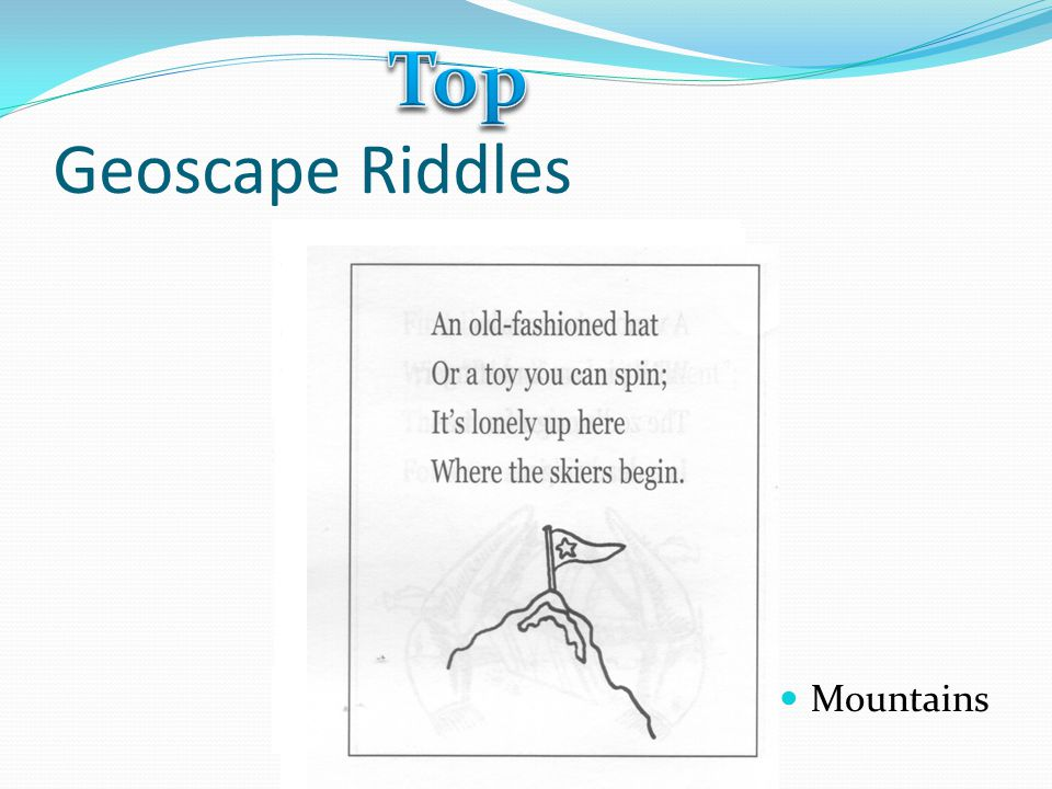 Top Geoscape Riddles Mountains
