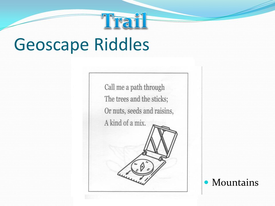 Trail Geoscape Riddles Mountains
