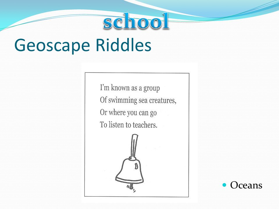 school Geoscape Riddles Oceans