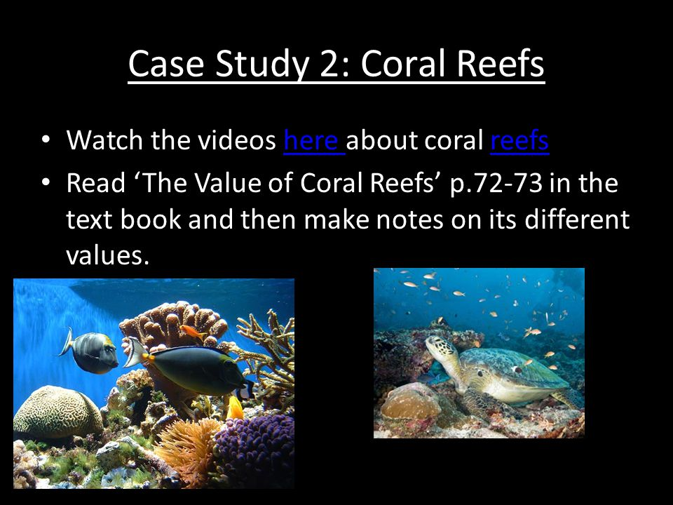 Case Study 2: Coral Reefs