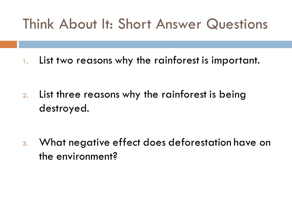 Think About It: Short Answer Questions