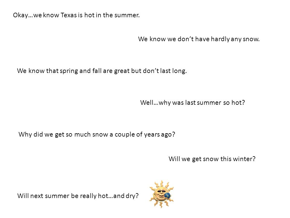 Okay…we know Texas is hot in the summer.