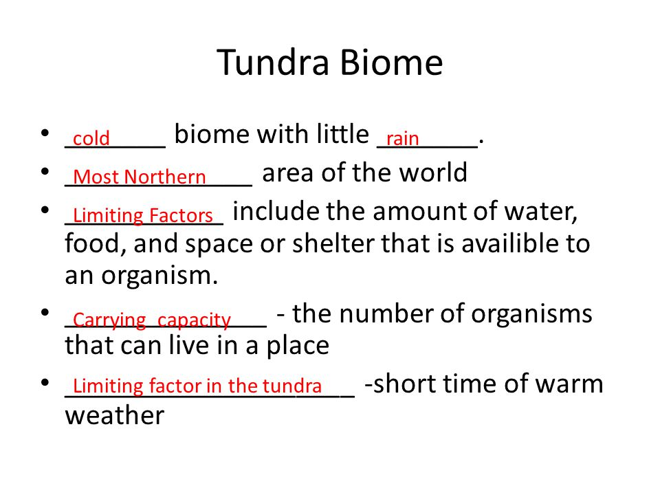 Tundra Biome _______ biome with little _______.
