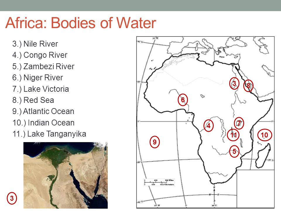 Africa: Bodies of Water