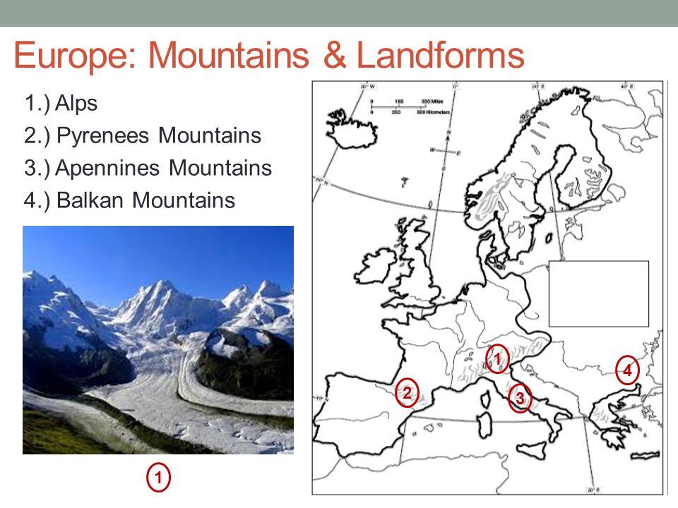 Europe: Mountains & Landforms
