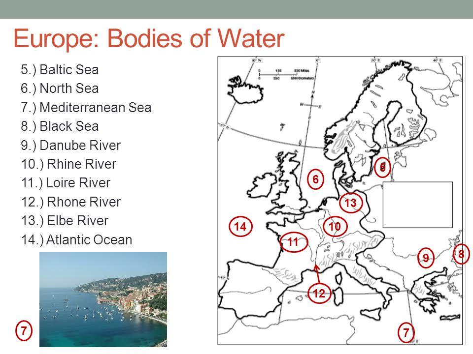Europe: Bodies of Water