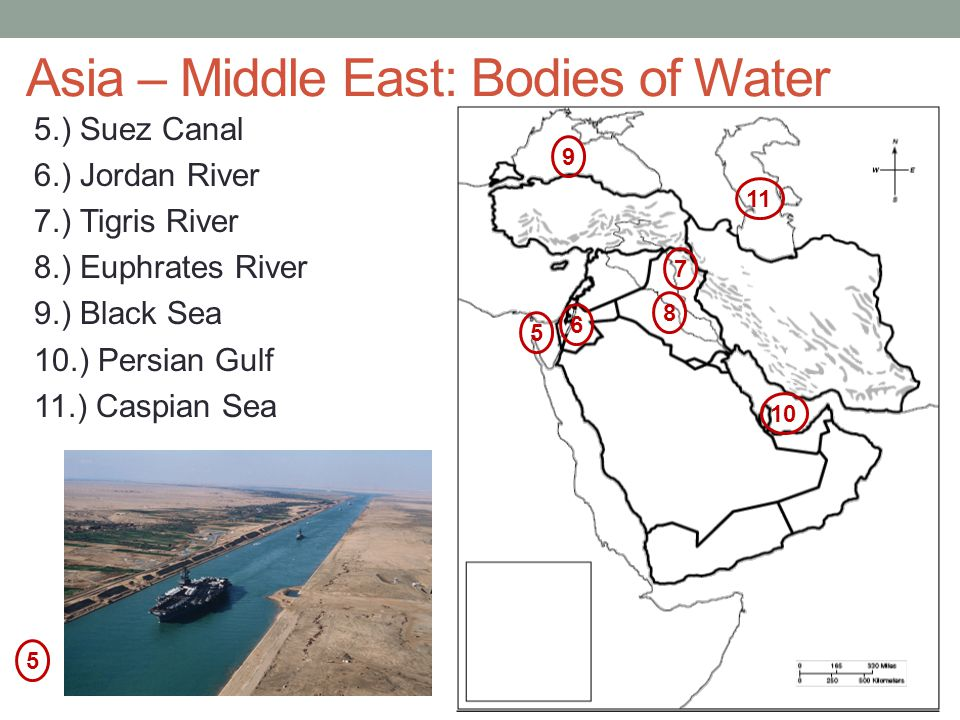 Asia – Middle East: Bodies of Water