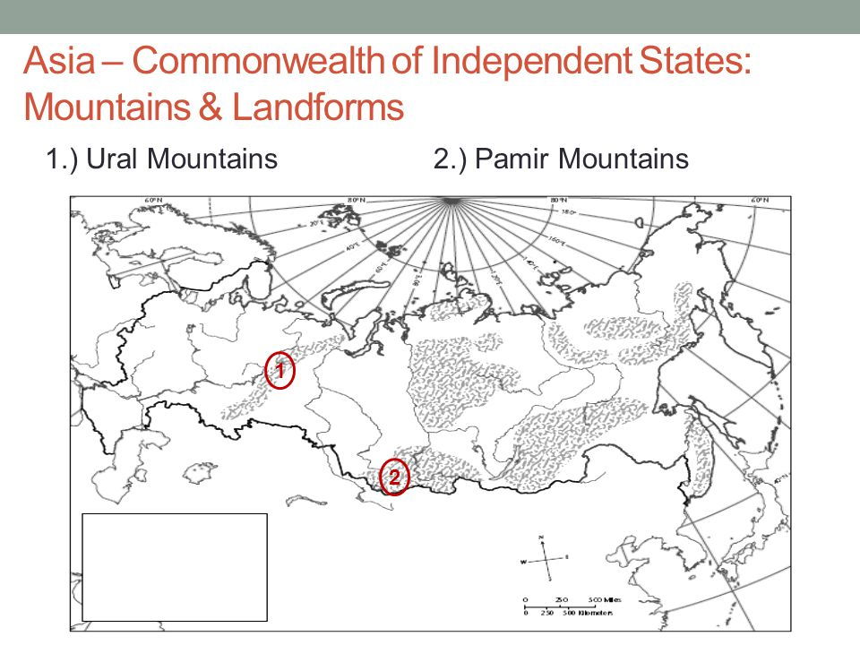 Asia – Commonwealth of Independent States: Mountains & Landforms