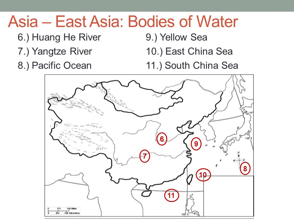 Asia – East Asia: Bodies of Water