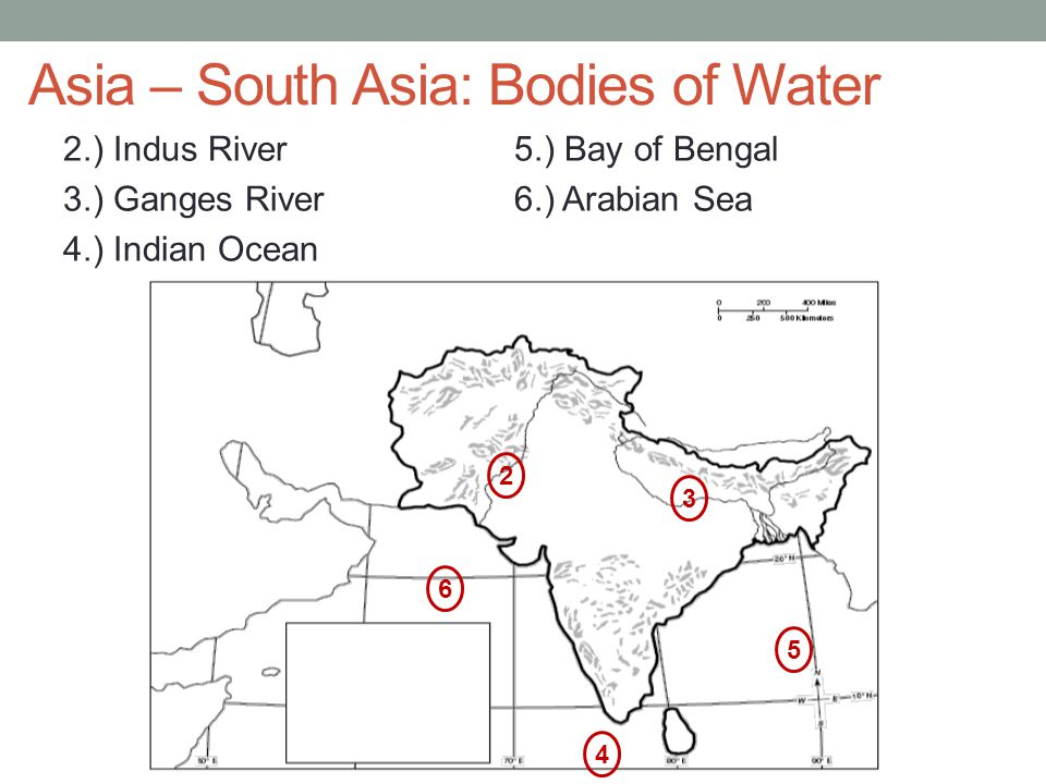 Asia – South Asia: Bodies of Water