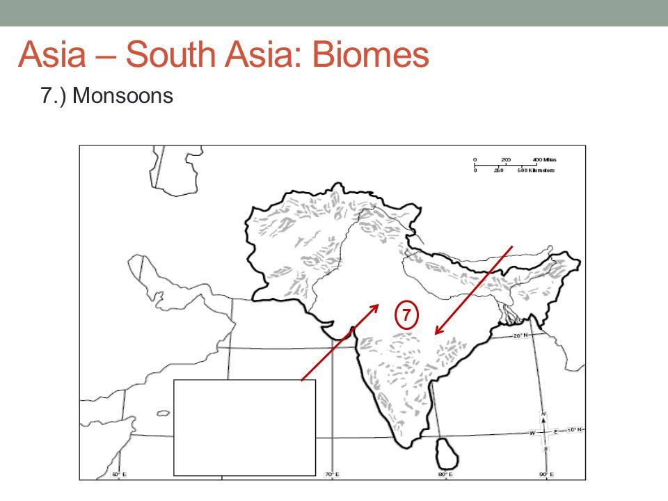 Asia – South Asia: Biomes