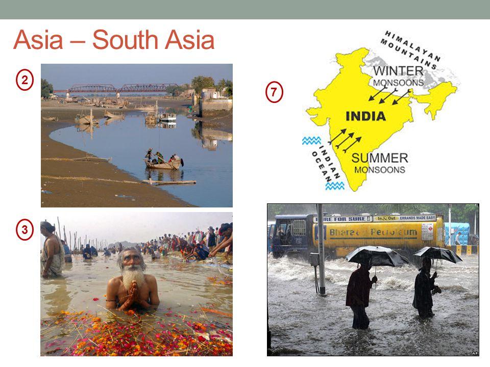 Asia – South Asia 2 7 3