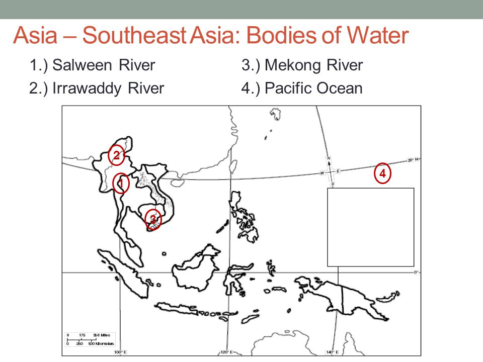 Asia – Southeast Asia: Bodies of Water