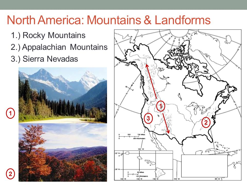 North America: Mountains & Landforms