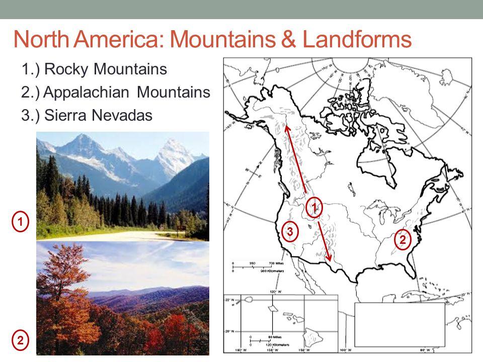 North America: Mountains & Landforms