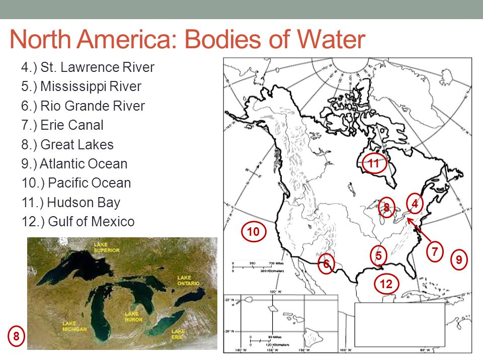 North America: Bodies of Water