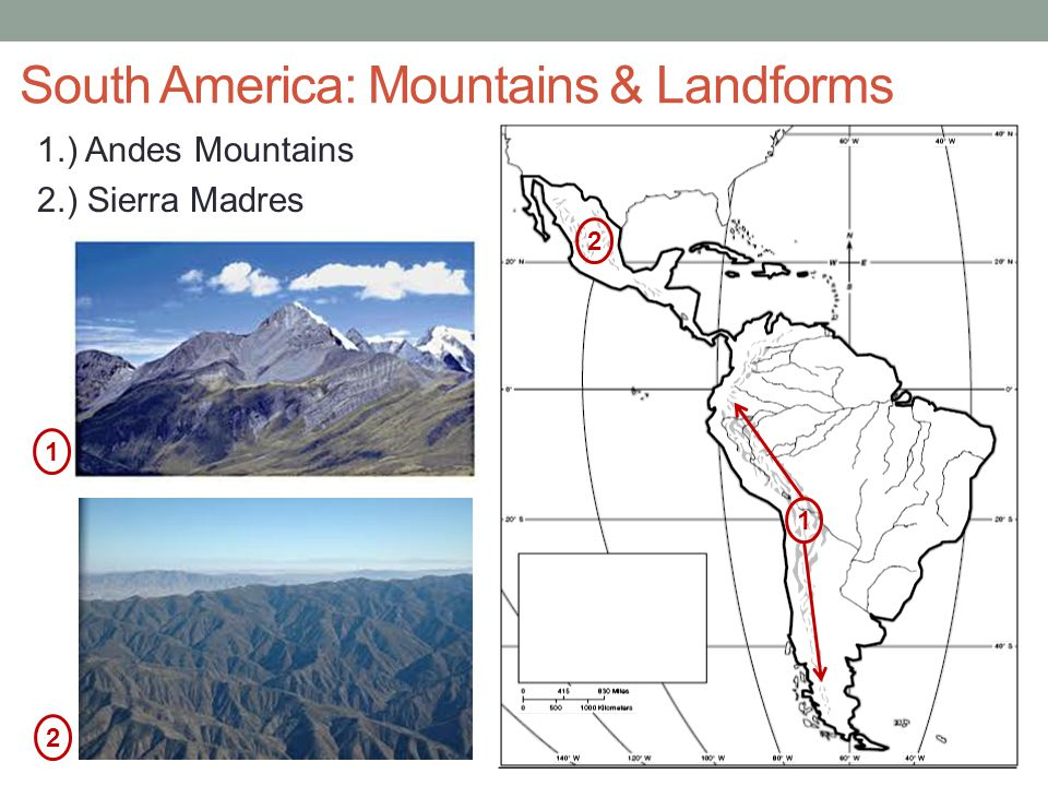South America: Mountains & Landforms