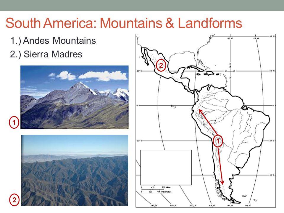 South America: Mountains & Landforms