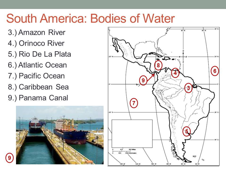 South America: Bodies of Water
