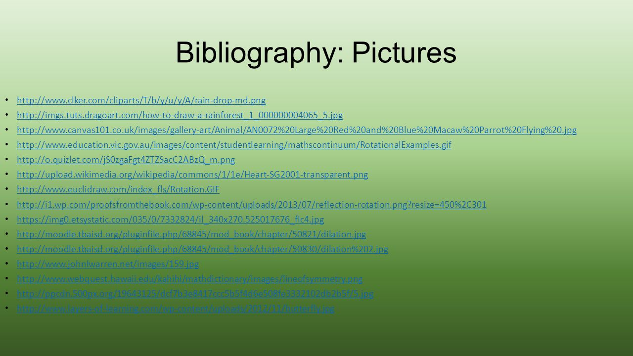 Bibliography: Pictures